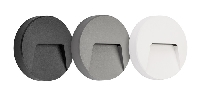 3390060 , SIBO 3W 280Lm round, cover black, white, grey inclusief IP65
