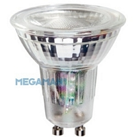 MM08027 , Megaman Led Lamp GU10 GLASS 5W 2800K 500lm 35°