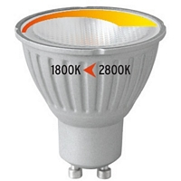 MM08217 , Megaman LED Lamp GU10 5.5W 2800K dim to warm 360lm